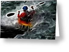 Kayaking In The Zone 3 Greeting Card