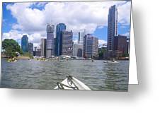 Kayaking On The Brisbane River Greeting Card