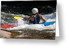 Kayaking The Brule Greeting Card