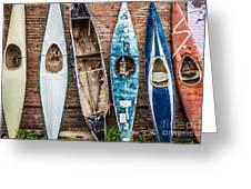 Kayaks 4 Greeting Card