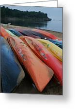 Kayaks At Rest Greeting Card