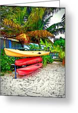 Kayaks In Paradise Greeting Card