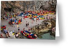 Kayaks On A Beach Greeting Card