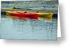 Kayaks Greeting Card