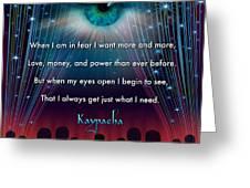 Kaypacha's Mantra 11.11.2015 Greeting Card