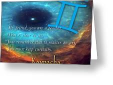 Kaypacha's Mantra 6.10.2015 Greeting Card