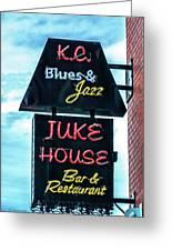 Kc Blues Greeting Card