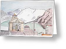 Kedarnath Jyotirling Greeting Card