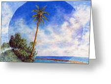 Ke'e Palm Greeting Card by Kenneth Grzesik
