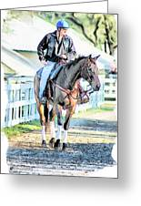 Keeneland Pony Boy Greeting Card by Tom Schmidt