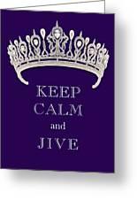 Keep Calm And Jive Diamond Tiara Deep Purple  Greeting Card