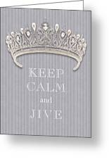 Keep Calm And Jive Diamond Tiara Gray Flannel Greeting Card