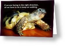 Keep On Walking Greeting Card