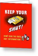 Keep Your Trap Shut -- Ww2 Propaganda Greeting Card