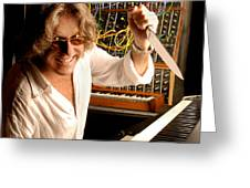 Keith Emerson By Gene Martin Greeting Card