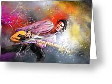 Keith Richards 02 Greeting Card by Miki De Goodaboom