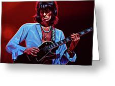 Keith Richards The Riffmaster Greeting Card by Paul Meijering