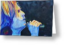 Keith Urban In Concert Greeting Card