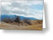 Kelso Dunes Winter Landscape Greeting Card