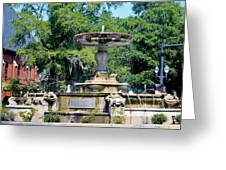 Kenan Memorial Fountain Greeting Card
