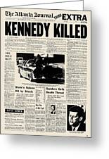 Kennedy Assassination, 1963 Greeting Card