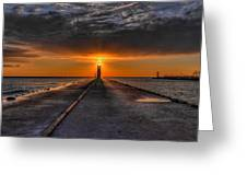 Kenosha Lighthouse Beacon Greeting Card