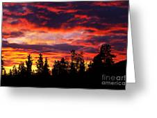 Kenosha Pass Sunrise Greeting Card