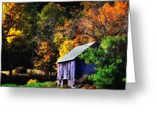 Kent Hollow II - New England Rustic Barn Greeting Card by Thomas Schoeller