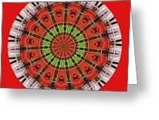 Kentucky Derby Glasses Kaleidoscope 3 Greeting Card