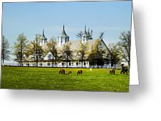 Revised Kentucky Horse Barn Hotel 2 Greeting Card