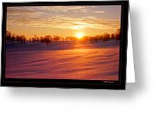 Kentucky Winter Sunrise Greeting Card