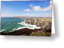 Kerry Cliffs Panoramic Greeting Card