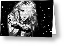 Kesha Greeting Card by Brad Scott