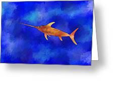 Kessonius V1 - Amazing Swordfish Greeting Card