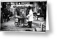 Kestane In Istanbul Greeting Card by John Rizzuto