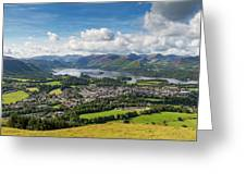 Keswick And Derwent Water View From Latrigg Greeting Card