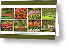 Keukenhof Garden Collage Greeting Card