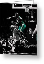 Kevin Garnett Not In Here Greeting Card