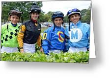 Kevin Gomez, Jomar Torres, Horacio Karamanos And Jevian Toledo - Laurel Park Greeting Card