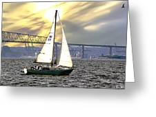 Key Bridge Greeting Card
