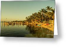 Key Largo Gold  Greeting Card