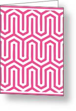 Key Maze With Border In French Pink Greeting Card