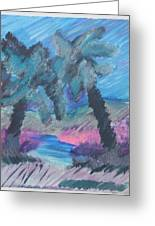 Key Palms Greeting Card by Judy Loper
