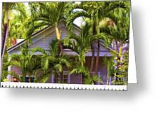 Key West Bungalow Greeting Card