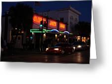 Key West By Night Greeting Card