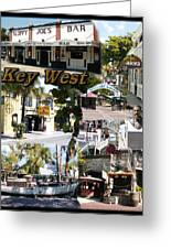 Key West Collage Greeting Card