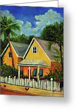 Key West Cottage Greeting Card