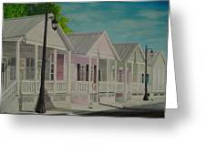 Key West Cottages Greeting Card
