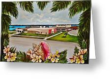 Key West High School From The 60's Era Greeting Card