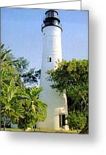 Key West Light  Greeting Card